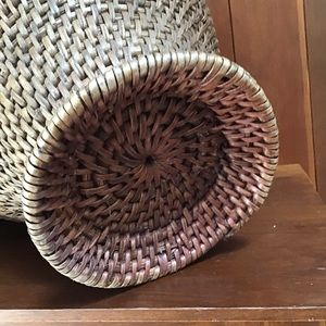 Vintage Accents - Vintage basket with handle and lid